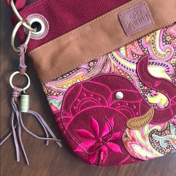 Karma Handbags - Karma Elephant Purse NWOT